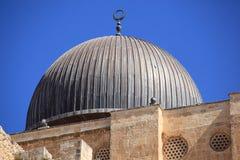 Al-Aqsamoskékupol i Jerusalem, Israel Arkivfoton