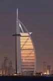 al arabska burj Dubai noc obraz royalty free
