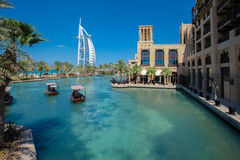 al arabski burj Dubai hotel Obrazy Royalty Free