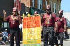 Al-Ashraf vertegenwoordigers in Ypsilanti, MI vierde van Juli parad Royalty-vrije Stock Foto