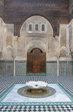 Al Attarine Madrasa à Fez, Maroc Photographie stock libre de droits