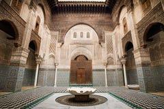 Al-Attarine Madrasa in Fes Morocco Stock Images