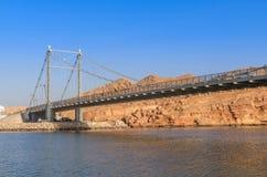 Al Ayjah-brug in Sur Oman royalty-vrije stock afbeeldingen