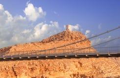 Al Ayjah-brug in Sur Oman royalty-vrije stock foto