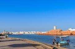 Al Ayjah-stad in Sur Oman royalty-vrije stock afbeelding