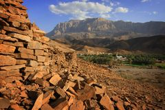 Al Ayn dorp stock afbeelding