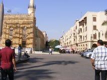 Al azhar清真寺在老开罗埃及 免版税库存照片