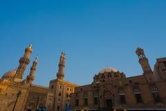 Al Azhar Madrasa Moskee Universitair Kaïro Royalty-vrije Stock Afbeeldingen