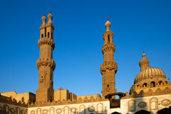 Al-Azhar University and mosque Stock Photos