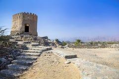 Al Badiyah Mosque - é o mais velho nos UAE foto de stock royalty free