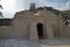 Al Badiyah Mosque Royaltyfri Fotografi