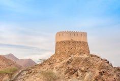 Al Badiyah utkiktorn royaltyfria foton