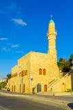 Al-Bahr la mezquita del mar en Jaffa, ahora parte del teléfono-Aviv-Yafo imagenes de archivo