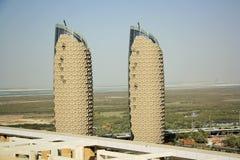 Al Bahr Towers Abu Dhabi, Förenade Arabemiraten Arkivbild