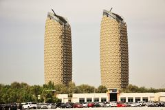 Al Bahr Towers, Abu Dhabi, United Arab Emirates Stock Photography