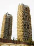 Al Bahr Towers, Abu Dhabi, Vereinigte Arabische Emirate Lizenzfreie Stockbilder