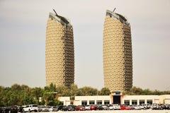 Al Bahr Towers, Abu Dhabi, Vereinigte Arabische Emirate Stockfotografie