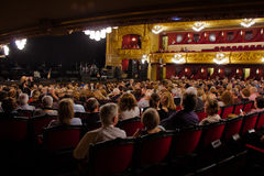 Al Bano in concert at Liceu Theatre in Barcelona Royalty Free Stock Photography