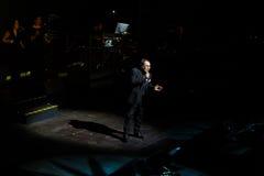 Al Bano de concert au théâtre de Liceu à Barcelone Images libres de droits