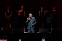 Al Bano im Konzert am Liceu Theater in Barcelona Lizenzfreie Stockbilder