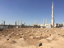Al-Baqi Cemetery. Nearby the mosque of prophet Stock Images