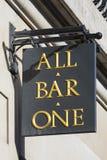 Al Bar Één Teken Stock Foto's