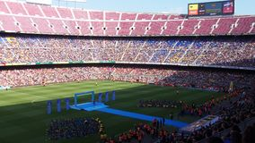 Al Barcellona di Presentación de Neymar Immagine Stock Libera da Diritti