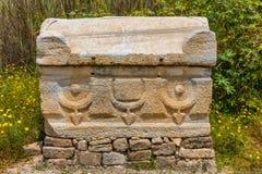 Al-Bass Archaeological Site Tyre Sur Líbano del sur fotografía de archivo libre de regalías