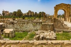 Al-Bass Archaeological Site Tyre Sur South Lebanon. Al-Bass Archaeological Site Tyre Sur in South Lebanon Middle east royalty free stock images