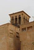 Al Bastakiya - historic district in Dubai. Wind Tower. Al Bastakiya - historic district in Dubai, UAE Royalty Free Stock Photo