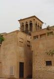 Al Bastakiya - historic district in Dubai. Wind Tower. Al Bastakiya - historic district in Dubai, UAE Stock Images