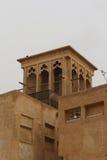 Al Bastakiya - historic district in Dubai. Wind Tower. Al Bastakiya - historic district in Dubai, UAE Royalty Free Stock Image
