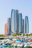 Al Bateen in im Stadtzentrum gelegenem Abu Dhabi Stockbild
