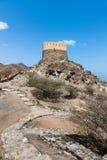 Al Bidiyah Fort i emiraten av Fujairah i UAE royaltyfri bild