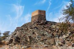 Al Bidiyah Fort i emiraten av Fujairah i UAE royaltyfri foto