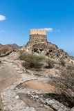 Al Bidiyah Fort no emirado de Fujairah nos UAE imagem de stock royalty free