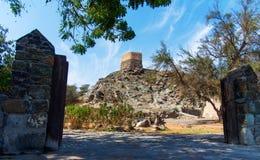 Al Bidiyah Fort no emirado de Fujairah nos UAE fotografia de stock royalty free