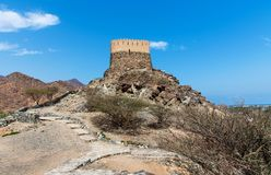 Al Bidiyah fort w emiracie Fujairah w UAE fotografia stock