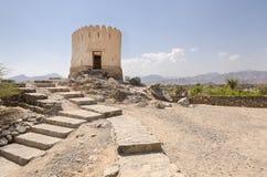 Al Bidyah堡垒富查伊拉阿拉伯联合酋长国 库存照片
