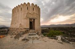 Al Bidyah堡垒富查伊拉阿拉伯联合酋长国 免版税库存图片