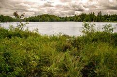 Al borde de un lago Fotos de archivo