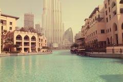AL-BURJ KHALIFA, Dubai, UAE am 28. Juni 2017 Lizenzfreie Stockfotos