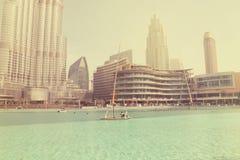 AL-BURJ KHALIFA, Dubai, UAE am 28. Juni 2017 Stockfoto