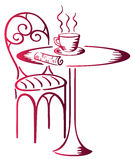 Al caffè royalty illustrazione gratis