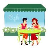 Al caffè Fotografia Stock