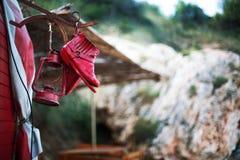 Al campeggio della montagna Fotografie Stock Libere da Diritti