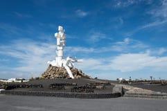 Al Campesino, Lanzarote de Monumento Imagen de archivo