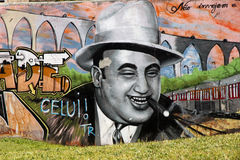 Al Capone graffiti. Al Capone graffiti on a wall in Lisbon Stock Photography