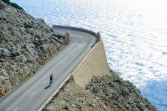 Al cappuccio Formentor in bici Fotografia Stock