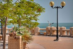Al-Chubar Seefrontweg Stockfoto